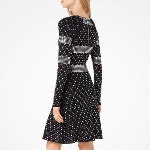 Michael Kors Stretch Jersey Studded Dress